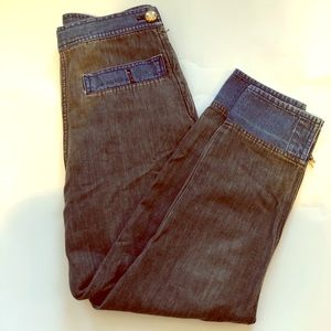 Moschino High waist vintage jeans cropped leg